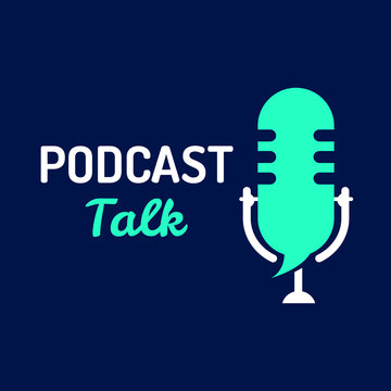 logo or icon podcast talk with light color,vector graphic