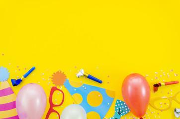 Colorful decorative birthday elements