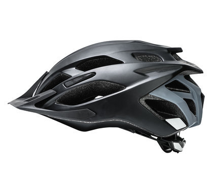 cycling helmet isolated on white. protection headwear.
