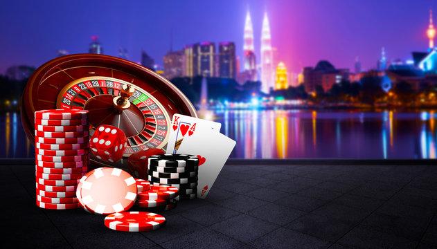 Illustration, Casino element isolation banner