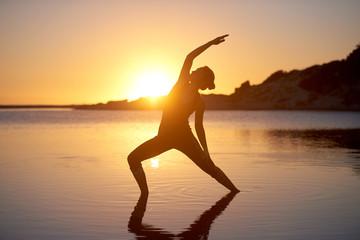 Yoga pose sunrise