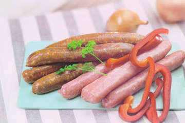 merguez et chipolatas  ,saucisse pour barbecue