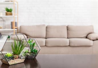 Scandinavian minimalistic living room concept, copy space Wall mural