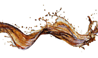 Cola splash isolated Wall mural