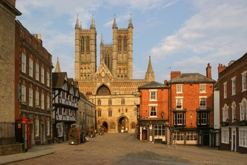 Historic City of Lincoln with Cathedral Wall mural