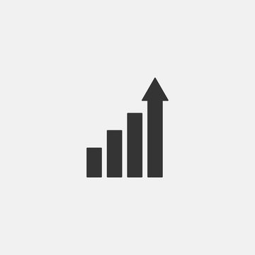 Growth vector Icon illustration sign