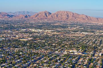 Foto op Aluminium Las Vegas Aerial view of Las Vegas in Nevada. USA