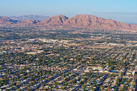 Aerial view of Las Vegas  in Nevada. USA