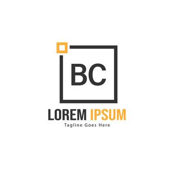 BC Letter Logo Design. Creative Modern BC Letters Icon Illustration