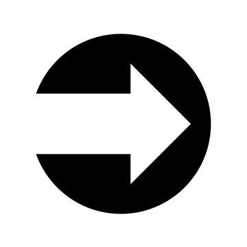 Next arrow icon flat vector illustration design