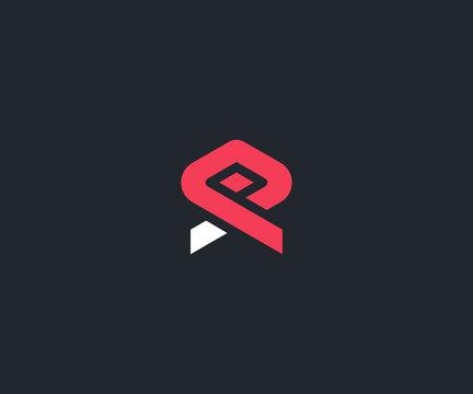 letter XP logo design template