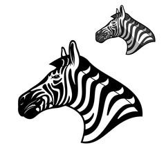 Zebra head, African wild animal muzzle icon
