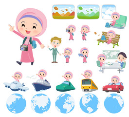 Arab Hijab girl_travel