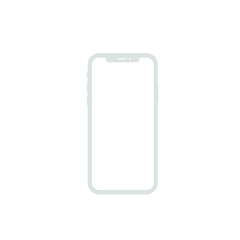 phone front isolated on white background vector