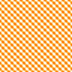 Gingham Seamless Check Cross Weave Pattern, Orange and White, EPS8 includes pattern swatch that seamlessly fills any shape, for arts, crafts, fabrics, picnics, home decor, scrapbooks.