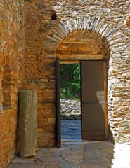 Athens Greece, Kaisariani monastery main gate