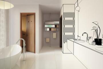 Modernes Badezimmer (Teilkonzept)