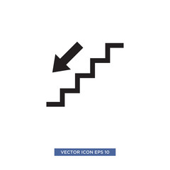 stairs icon vector illustration template
