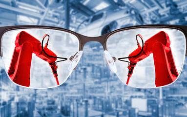 Industrieroboter in der Produktion