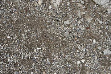 rock gravel mixed with dirt sand texture top view