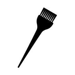 Black and white hair dye brush silhouette