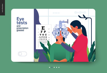 Medical tests template - eye tests and prescription glasses