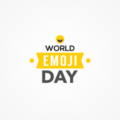 World Emoji Day Vector Design With Icon