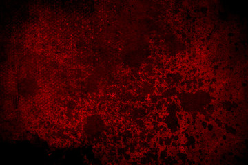Old red scratched wall, grungy background or texture Wall mural