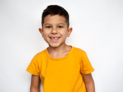 Portrait of cute smiling little boy