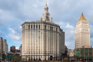 City Hall building in New York, United States.