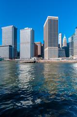 Manhattan Shore in New York, United States.