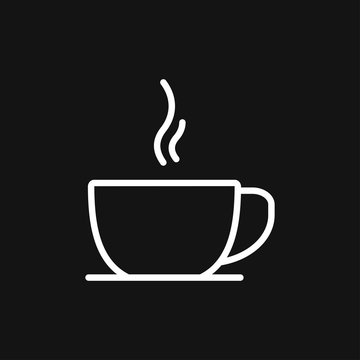 Coffee cup icon. Coffee drink vector symbol stock web illustration.