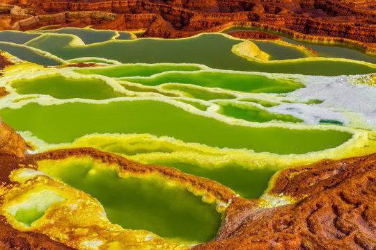 Dallol sulfur Springs in The Afar Region of Danakil Depression