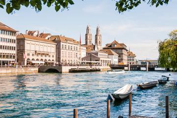 Zürich, Limmat, Limmatquai, Grossmünster, Niederdorf, Schipfe, Altstadt, Stadt, Schweiz