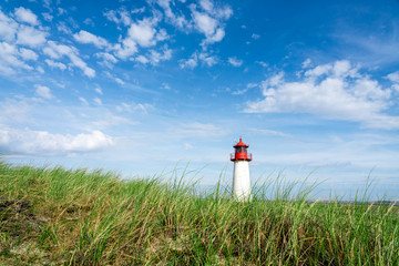 Wall Mural - Lighthouse List Ost on the island Sylt, Nordfriesland, Schleswig-Holstein, Germany