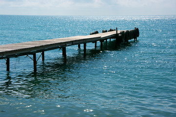 Seascape with pier