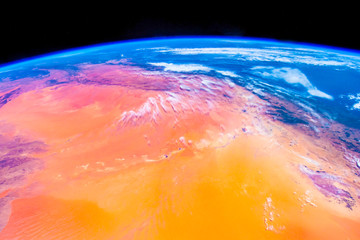 Beauty of our planet Earth seen from Space (ISS). The image is a public domain hand out from NASA. It has digitally enhanced by the contributor