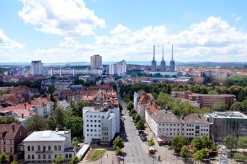 Panorama von Hnanover mit Stadtteil Linden