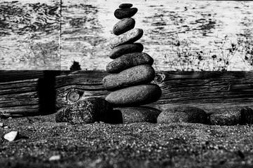 Rocks Balance in the sand