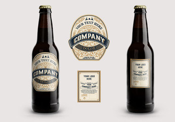 Vintage-Style Beer Label Layout