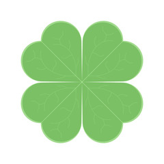 Clover leaf icon. Vector illustration on white background