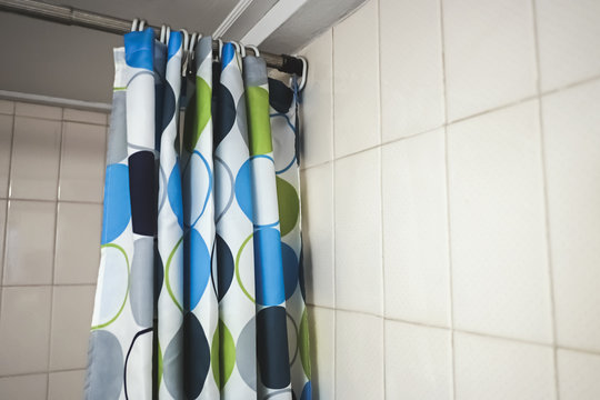 shower curtain in the bathroom
