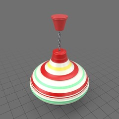 Striped spinning top