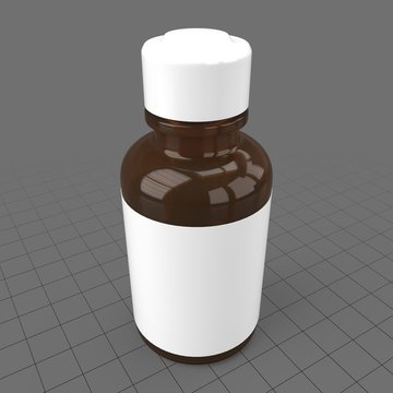 Small pill bottle with label 2