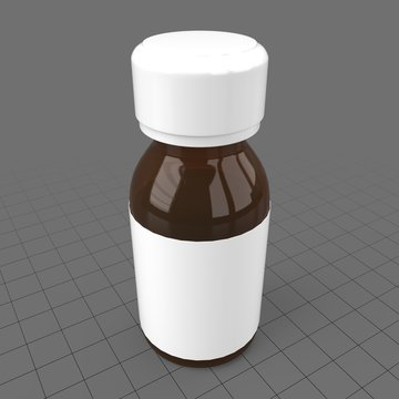 Small pill bottle with label 3