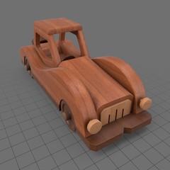 Retro wooden toy car
