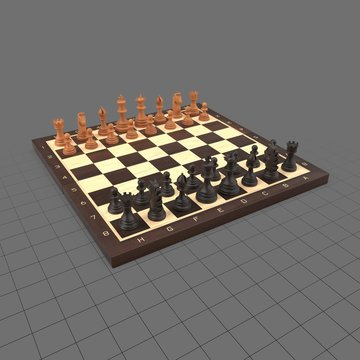 Chess pieces on chessboard