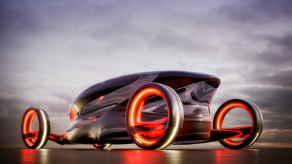 Concept car  prototypes of cars of the future