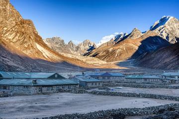 Landscape around Pheriche village in Nepal