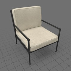 Seat cushion armchair